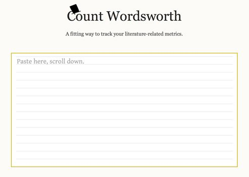 Could you use a Count Wordsworth?