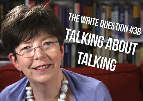 Is talking about writing okay? [video]